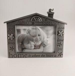 3/18 Fetco Pewter Family Home Heart Picture Frame